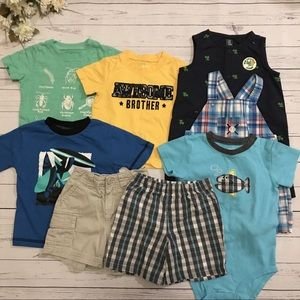 Boys Spring/Summer Mix-n-Match outfit Lot Of 8